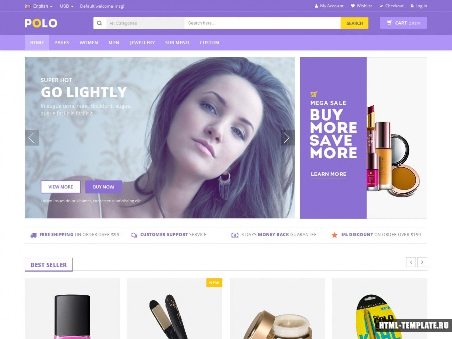 Сайт шаблоны косметики