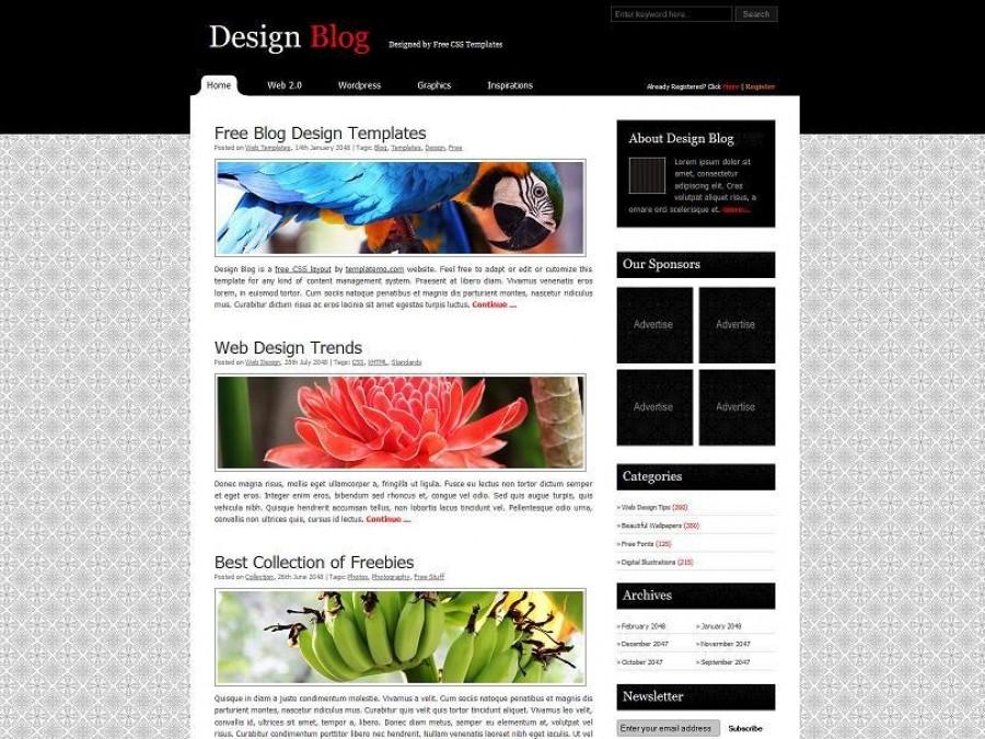 Дизайн блога примеры