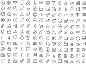 Stroke Gap Icons - иконки в шрифте
